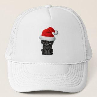 Boné Pantera preta bonito Cub que veste um chapéu do