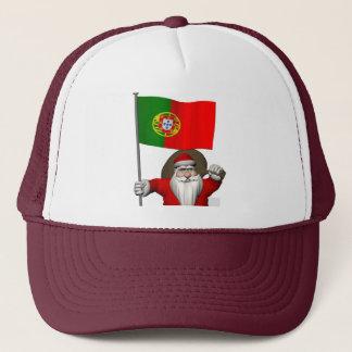 Boné Papai Noel com a bandeira de Portugal