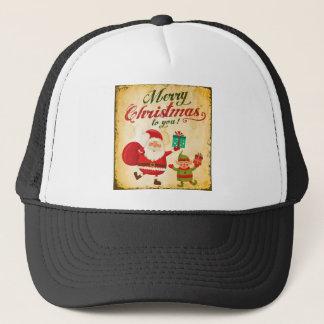 Boné Papai noel e duende de Daning do Feliz Natal do