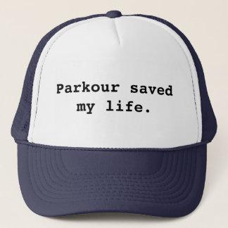 Boné Parkour salvar minha vida