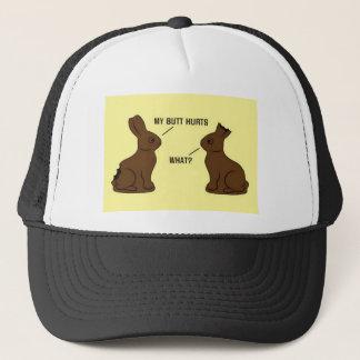 Boné Páscoa Bunnys do chocolate