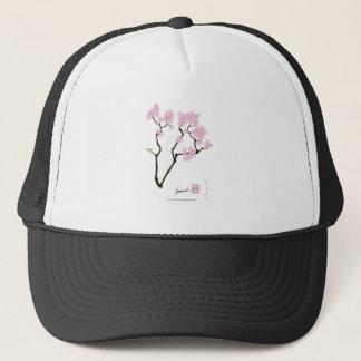 Boné pássaro branco do olho da flor de sakura,
