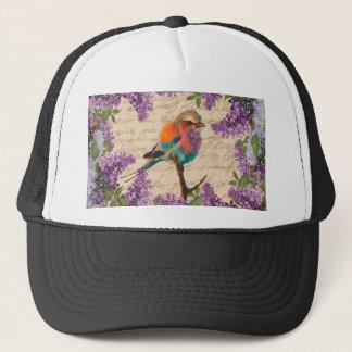 Boné Pássaro e lilac do vintage