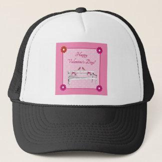 Boné Pássaros dos namorados, os cor-de-rosa e os