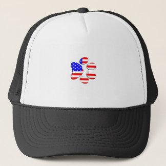 Boné pata do cão da bandeira americana