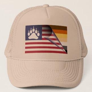Boné Pata do orgulho do urso da bandeira americana