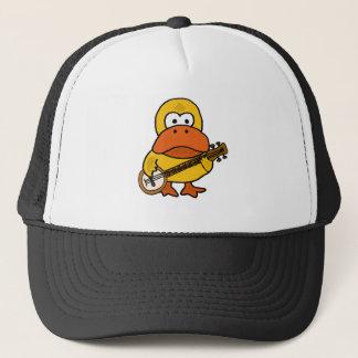 Boné Pato engraçado parvo que joga desenhos animados do