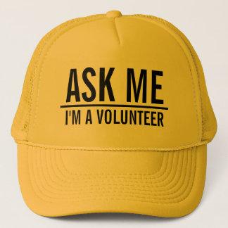 Boné Peça-me o voluntário do amarelo de |