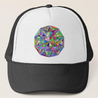 Boné Pedra de gema tirada Kaleidescope colorida