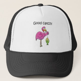 Boné Peixes cor-de-rosa lunáticos engraçados do