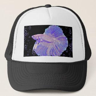 Boné Peixes de combate roxos iridescentes