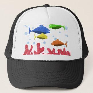 Boné Peixes e corais