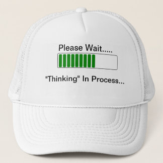 Boné Pensamento no chapéu engraçado das citações do