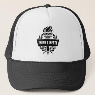 Boné Pense a liberdade - chapéu do camionista