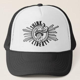 Boné Pense a liberdade - chapéu marcado