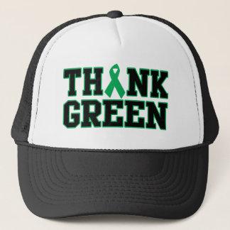 Boné Pense verde