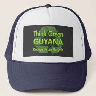Boné Pense verde Guyana