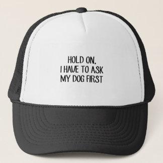 Boné Pergunte a meu cão primeiro