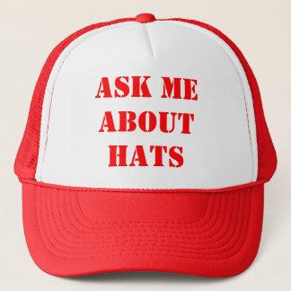 Boné Pergunte-me sobre chapéus