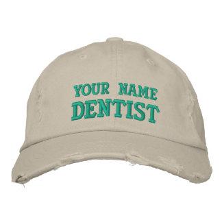 Boné personalizado afligido do dentista