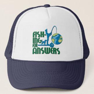 Boné Pesca para o chapéu das respostas