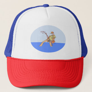Boné Pescador dentro do rwb do chapéu do camionista