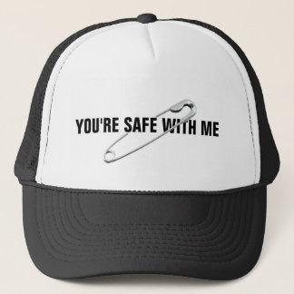 """Boné Pin de segurança """"você é seguro comigo"""" Anti-Abuso"""