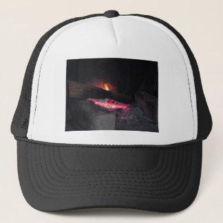 Boné Pináculos do calor da chama do fogo de madeira que
