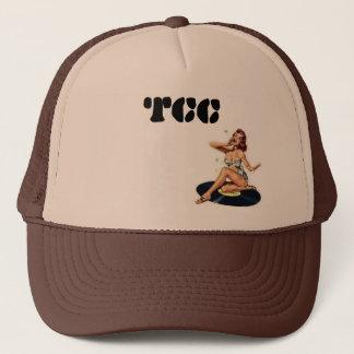 Boné Pino-acima do TCC no chapéu do camionista do vinil
