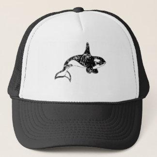 Boné Pinte a arte da orca do Splatter