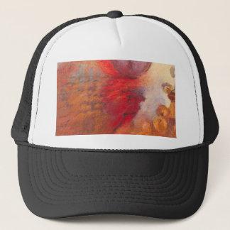 Boné Pintura a óleo do abstrato da dança do fogo