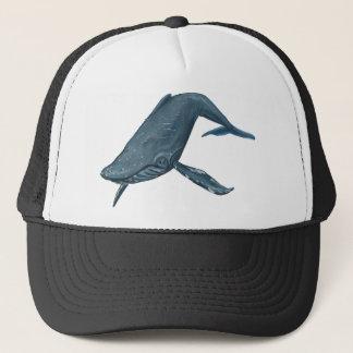 Boné Pintura da baleia de Humpback