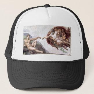 Boné Pintura original de Michelangelo na capela Roma do