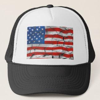 Boné Pintura vestida rachada patriótica da bandeira