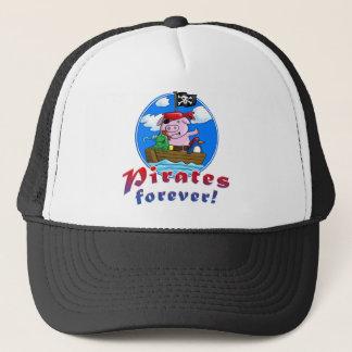 Boné pirates forver pig, comic, penguin, frog