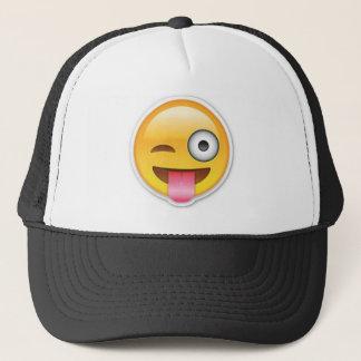 Boné Piscar os olhos insolente do emoji do smiley