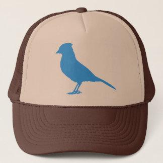 Boné Pnha um pássaro sobre ele - chapéu de Jay azul