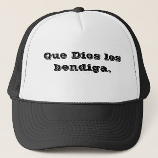 Boné podem os deus abençoe você (espanhol).