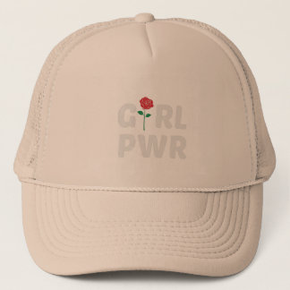 Boné Poder da menina com logotipo cor-de-rosa
