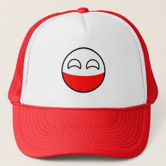 Boné Polônia Geeky de tensão engraçado Countryball