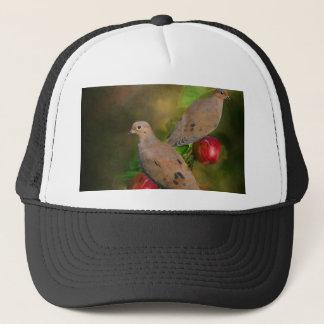 Boné Pombas de lamentação na árvore de Apple - pintura