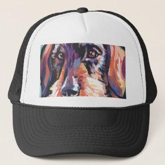 Boné Pop art colorido brilhante do cão do doxie do
