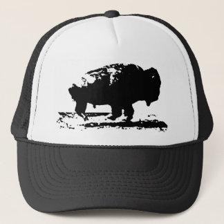 Boné Pop art Running do bisonte do búfalo