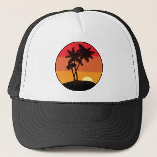 Boné Por do sol da palmeira