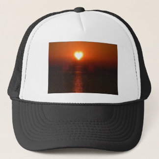 Boné Por do sol do mar do sol do coração