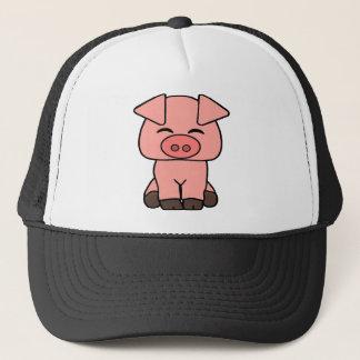 Boné Porco cor-de-rosa bonito