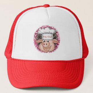 Boné Porco do CHURRASCO para fora
