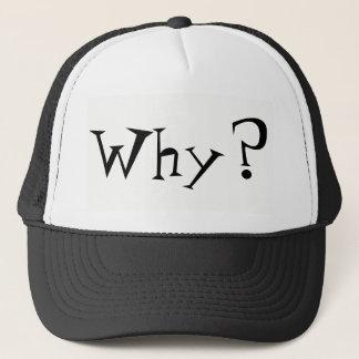 Boné Porque chapéu grande do camionista do design do