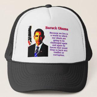 Boné Porque nós vivemos em um mundo - Barack Obama