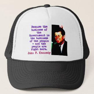 Boné Porque o negócio - John Kennedy